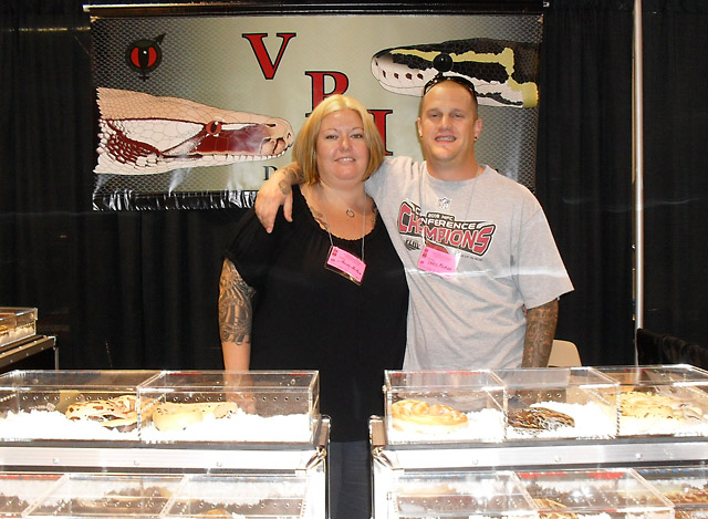 CHRIS AND ALLIEY McARA AT VPI BOOTH ANAHEIM 2010