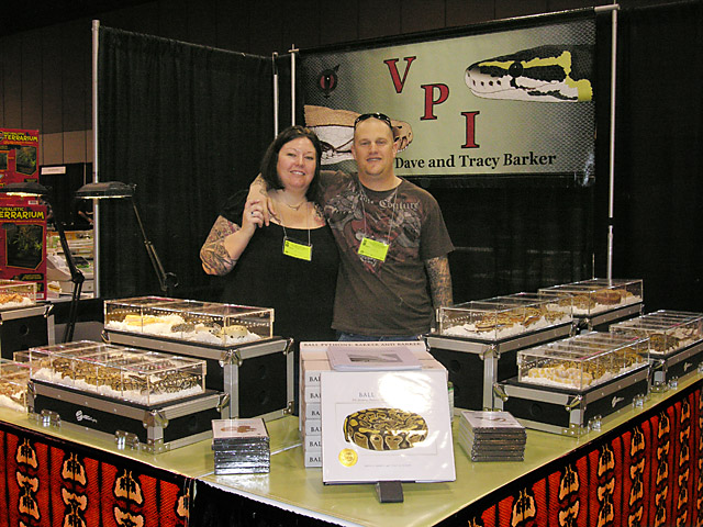 Chris and Ailley McAra at VPI tables in Arlington 03/2010