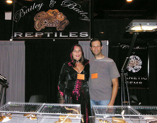 MONICA AND TIM BAILEY OF BAILEY AND BAILEY HERPS HOUSTON 2010
