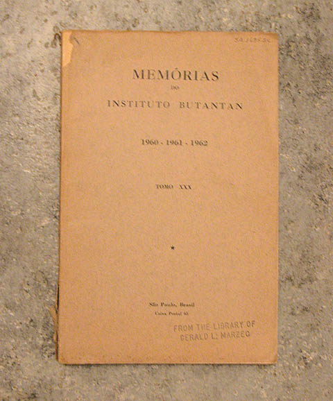 Memorias do Instituto Butantan, vol 30