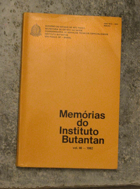 Memorias do Butantan, vol. 46--1982