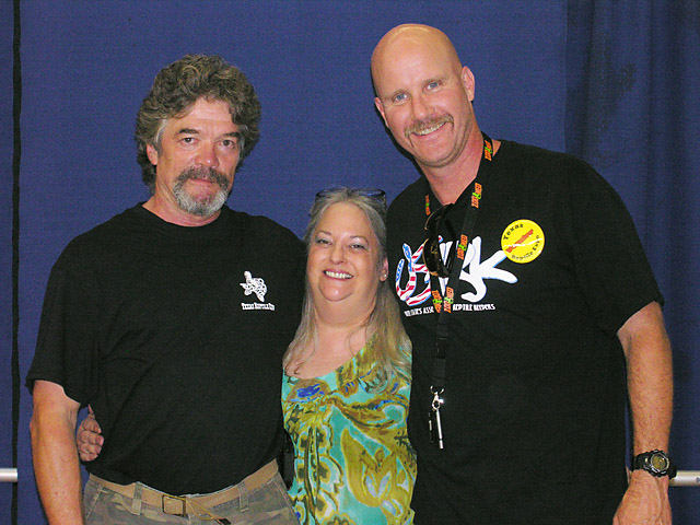 Andrew Wyatt President of USARK with Bonnie and Randall Berry at the San Antonio show 06/05/10